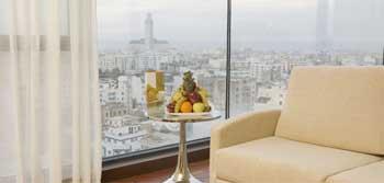 Vues depuis les chambres de l'Hôtel Barceló Casablanca